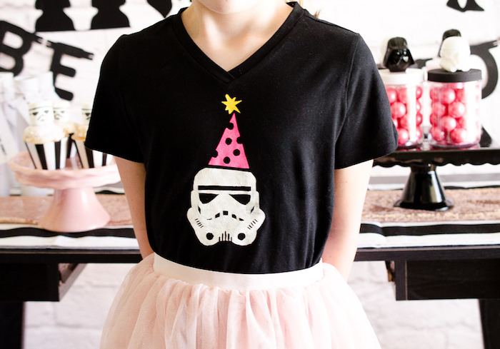 Kara S Party Ideas Pink And Sparkly Star Wars Party Kara S Party Ideas
