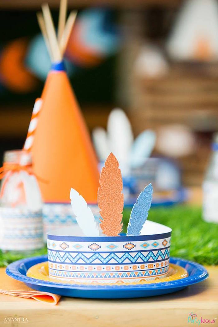Kara S Party Ideas Tribal Wild One 1st Birthday Party