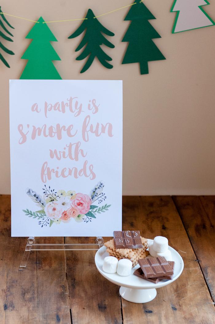 Kara S Party Ideas Boho Winter Camping Sleepover Birthday