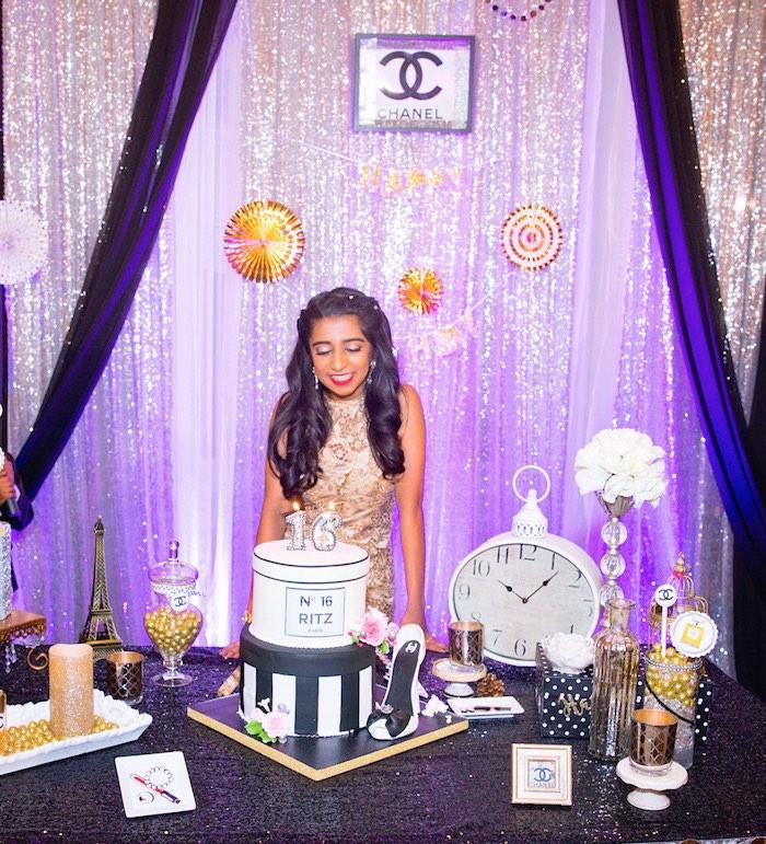 Kara S Party Ideas Glamorous Chanel No 16 Birthday Party Kara S Party Ideas