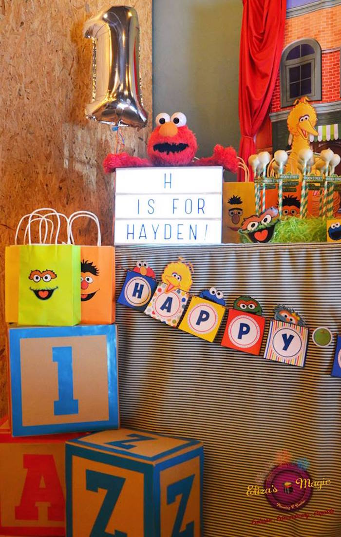 Kara S Party Ideas Sesame Street Birthday Party Kara S