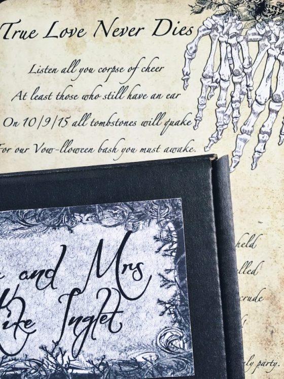 Kara S Party Ideas Corpse Bride Vow Lloween Wedding Anniversary