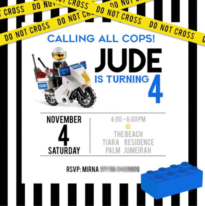 party ideas lego police birthday party