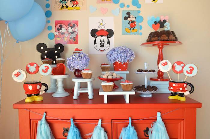 Kara S Party Ideas Vintage Minnie And Mickey Mouse Party Kara S Party Ideas