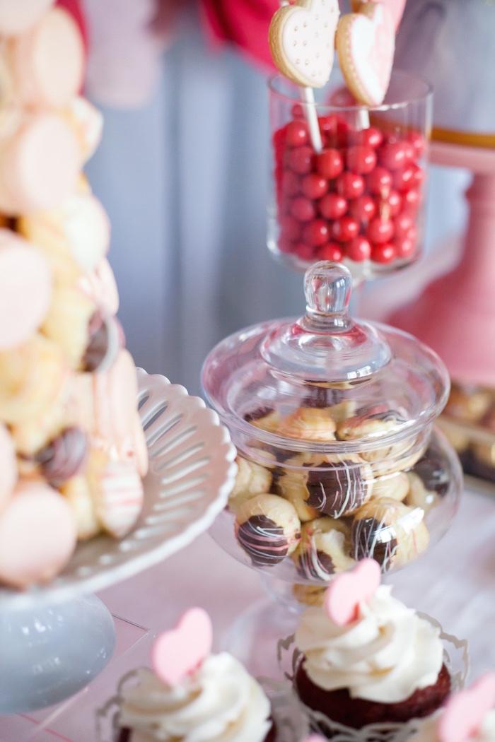 Karas Party Ideas Elegant Valentines Day Dessert Table