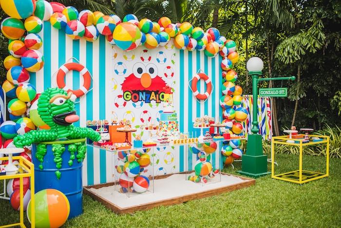 Kara S Party Ideas Elmo S Super Splash Birthday Party Kara S Party Ideas