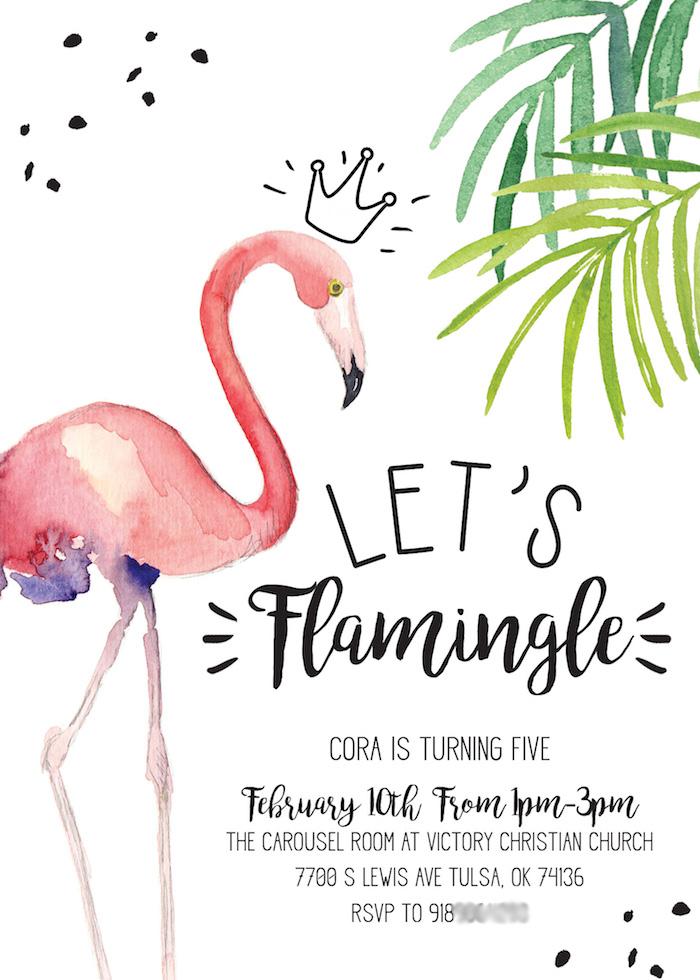 pink flamingo birthday party
