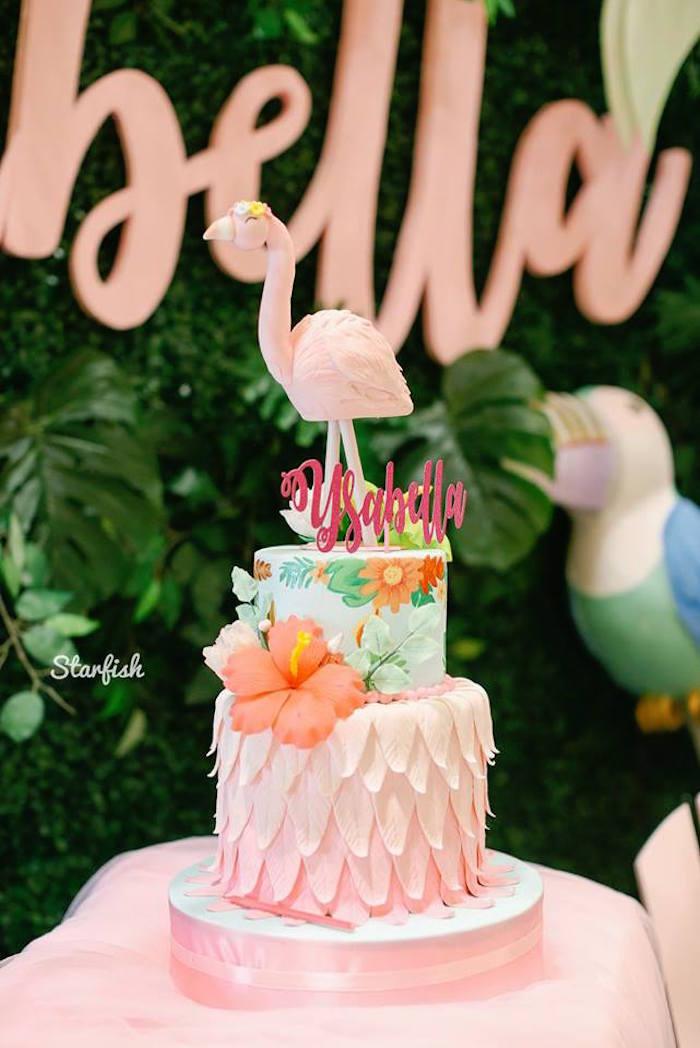 tropical flamingo birthday party