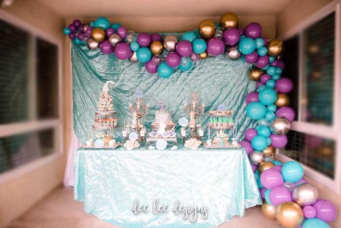 Teal Bridal Shower Decorations