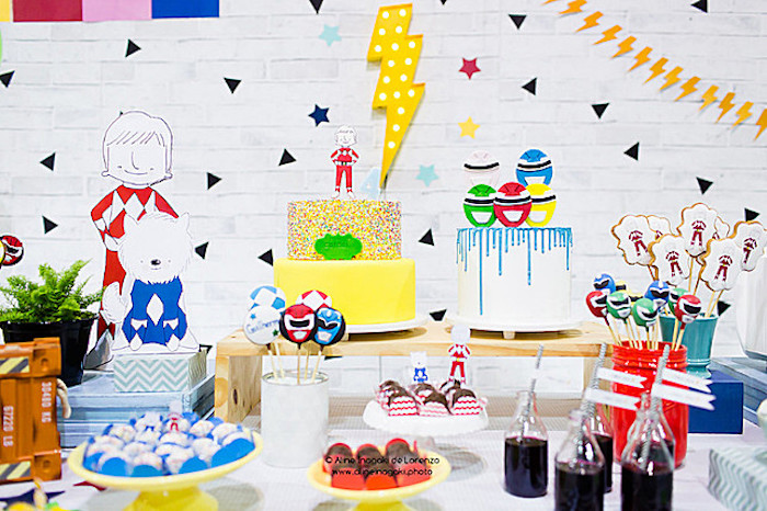 Kara S Party Ideas Power Rangers Birthday Party Kara S Party Ideas