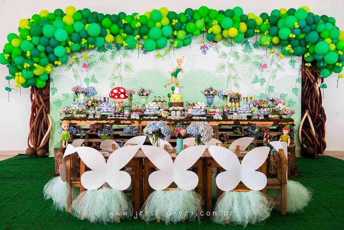 Kara S Party Ideas Tinkerbell Birthday Party Kara S Party Ideas