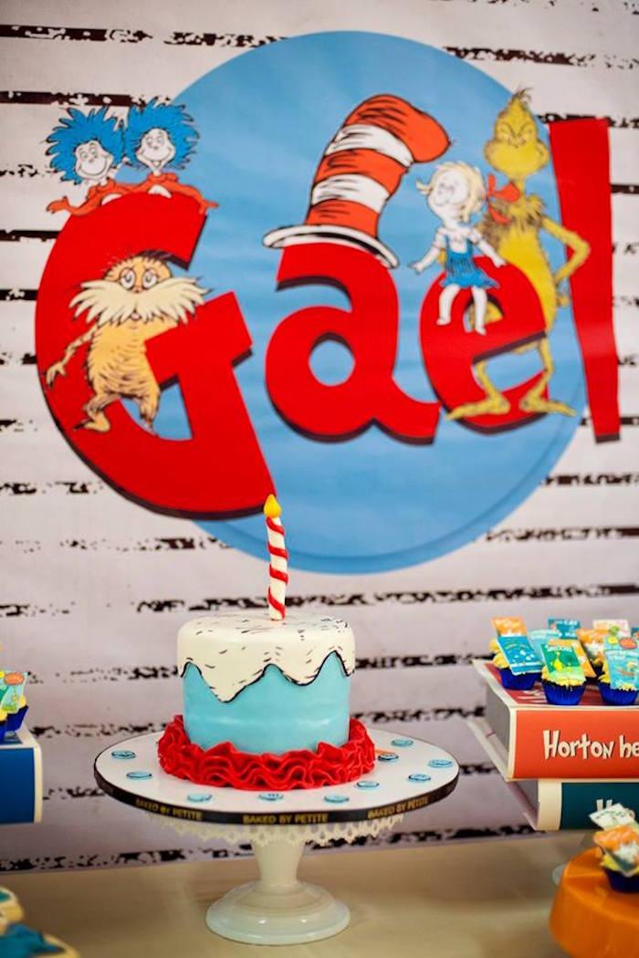 Kara S Party Ideas Dr Seuss Birthday Party Kara S Party Ideas
