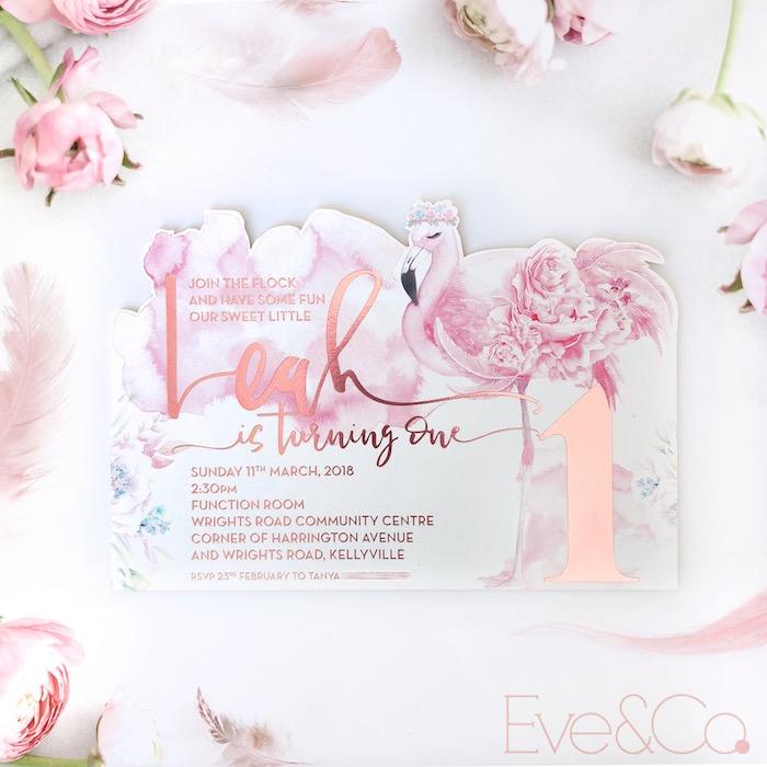 pastel floral flamingo birthday party