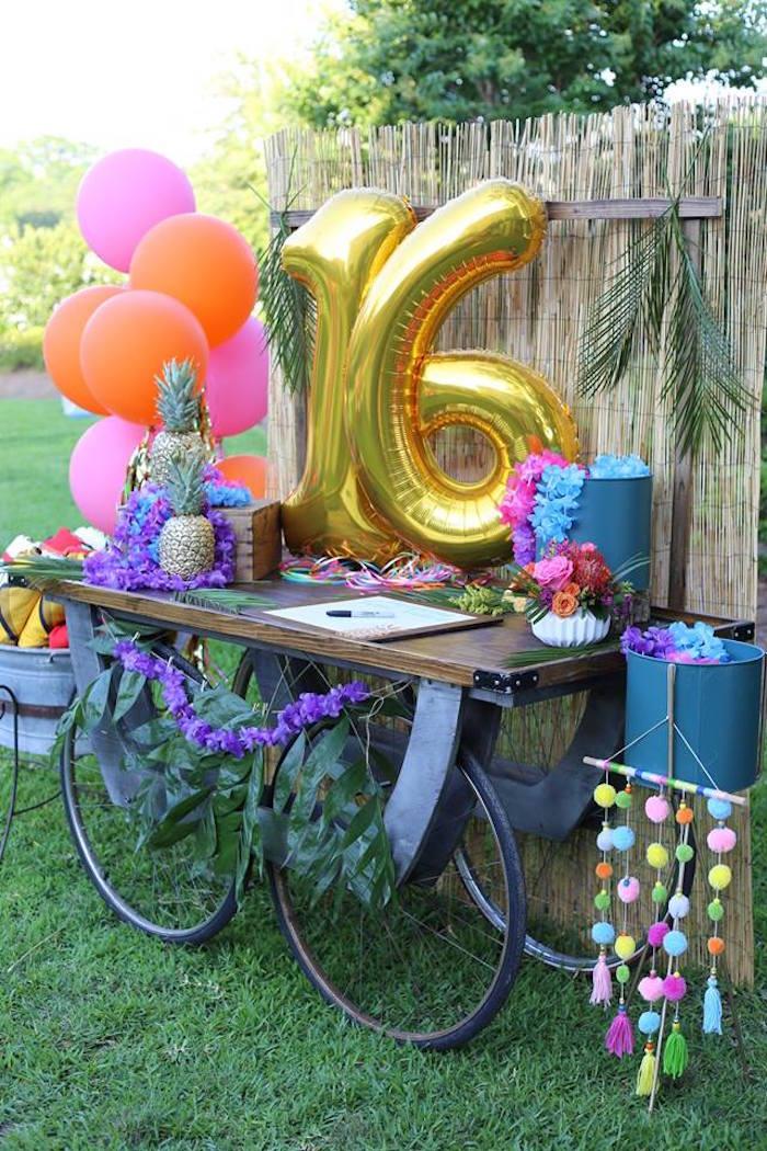 Kara S Party Ideas Sweet 16 Luau Kara S Party Ideas