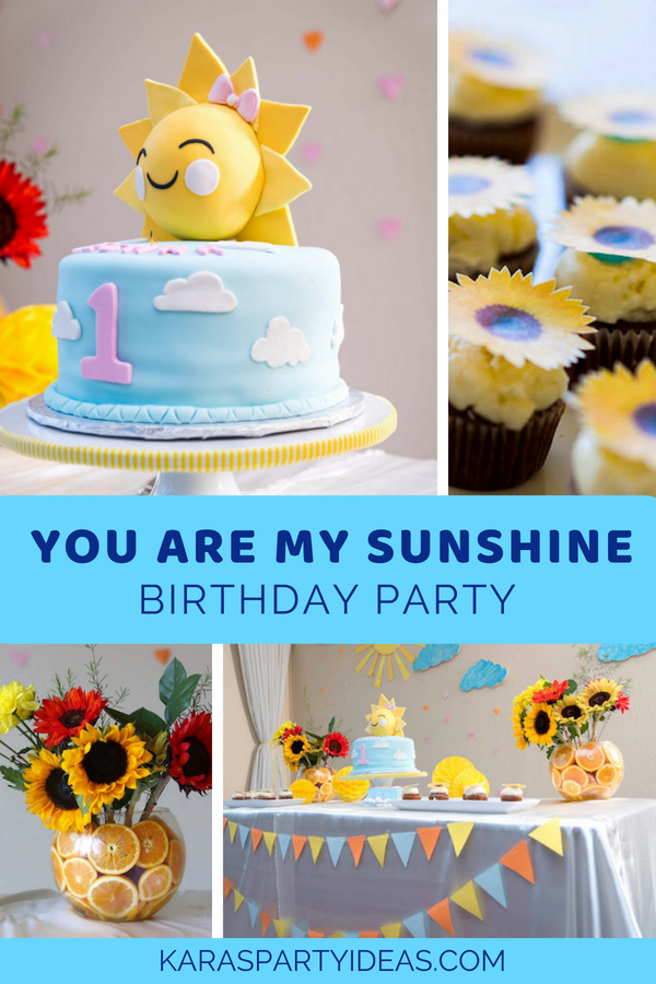 Kara S Party Ideas You Are My Sunshine Birthday Party Kara S Party Ideas