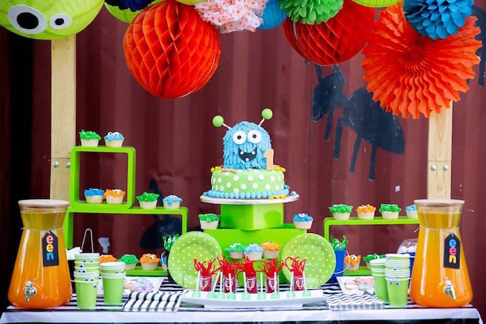 Kara S Party Ideas Little Monsters Birthday Party Kara S Party Ideas