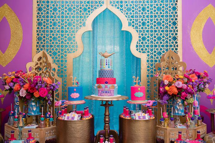 Kara S Party Ideas Shimmer And Shine Arabian Princess Birthday Party Kara S Party Ideas