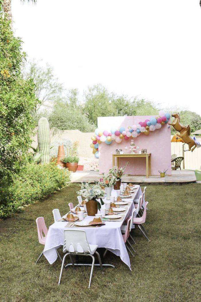 Kara S Party Ideas Wild Free Horse Themed Birthday Party Kara S Party Ideas