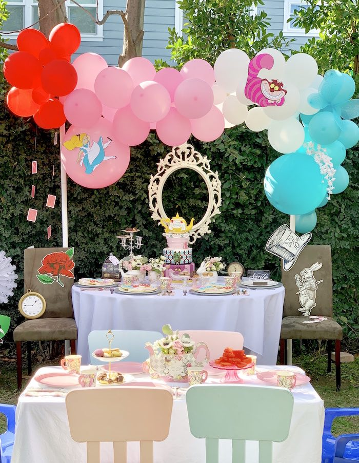 Kara S Party Ideas Alice In Wonderland Birthday Tea Party Kara S Party Ideas