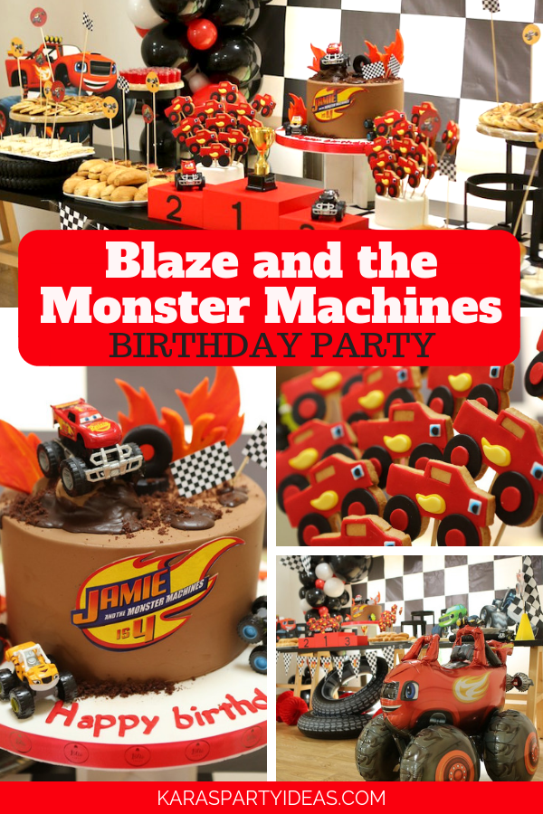 Kara S Party Ideas Blaze And The Monster Machines Birthday Party Kara S Party Ideas