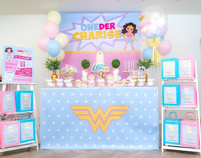 Kara S Party Ideas Pastel Wonder Woman Birthday Party Kara S Party Ideas