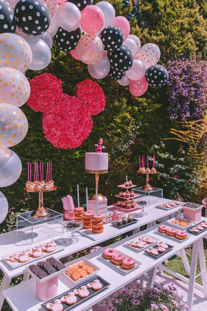 Kara S Party Ideas Boutique Minnie Mouse Birthday Party Kara S Party Ideas
