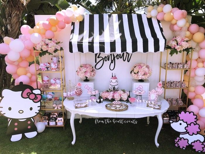 Kara S Party Ideas Hello Kitty In Paris Birthday Party Kara S Party Ideas