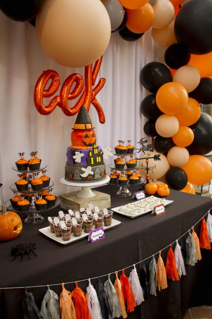 Kara S Party Ideas Enchanting Backyard Halloween Party Kara S Party Ideas