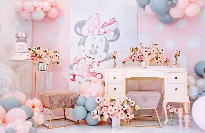 Vintage Pastel Minnie Mouse Party on Kara's Party Ideas | KarasPartyIdeas.com (6)
