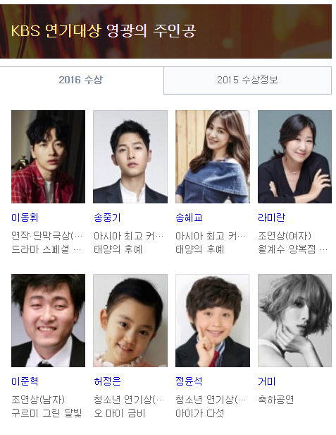 2016KBS演技大賞