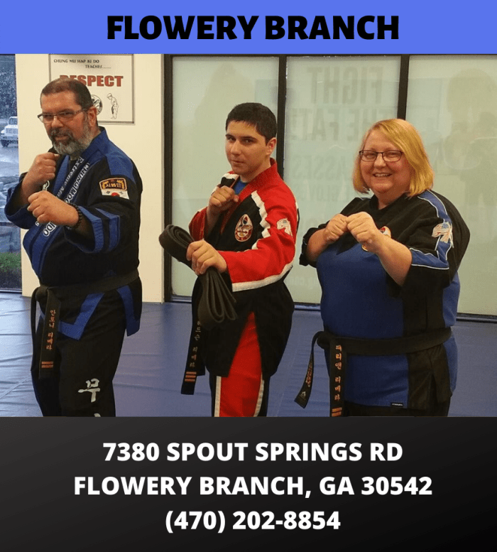 Choe's HapKiDo Flowery Branch 7380 Spout Springs Rd Flowery Branch GA 30542 (770) 967-1700