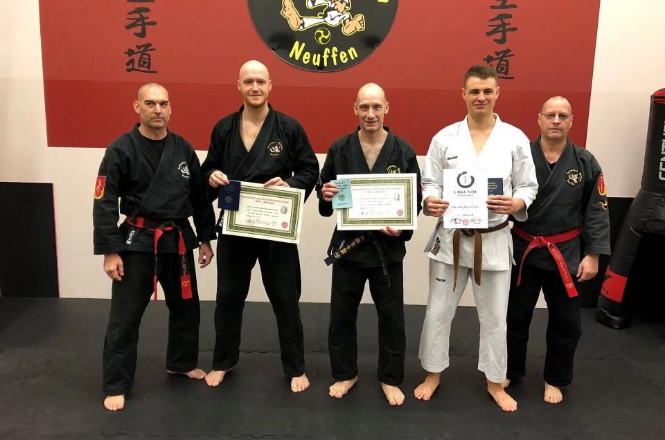 Karate Dan-Prüfung am 08.Dezember 2018 in der Karateschule Weitmann in Neuffen