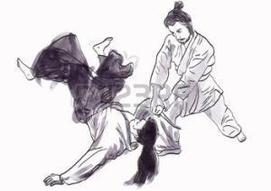 17424879-aikido-el-arte-marcial-japon-s--dibujo-de-la-mano-en-archivo-vectorial