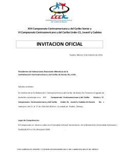 boletn-e-invitacin-xvii-campeonato-centroamericano-y-del-caribe-senior-y-vi-campeonato-centroamericano-y-del-caribe-under21-juvenil-y-cadetes-1-638