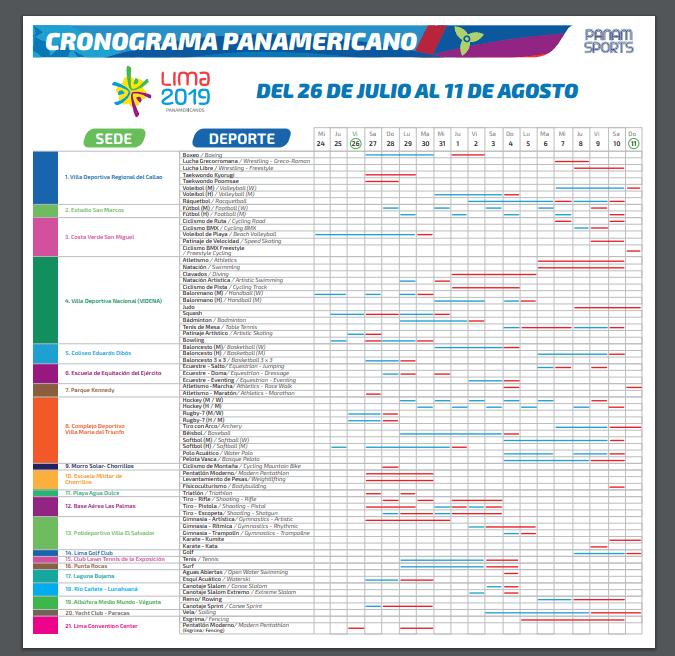 Calendario Completo.Conoce El Calendario Completo De Competencias De Los Juegos