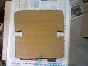one of three interlocking slabs.