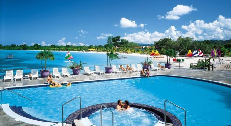 Grand Lido Negril - pool and beach