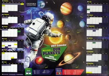 2017 Oxford University Press Calendar Poster