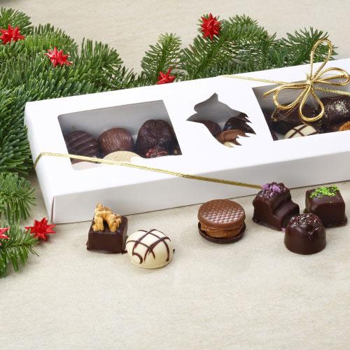 gaveaeske med 14stk. dessert chokolade