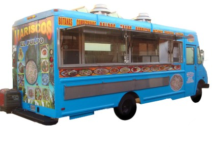 Opened seafood truck