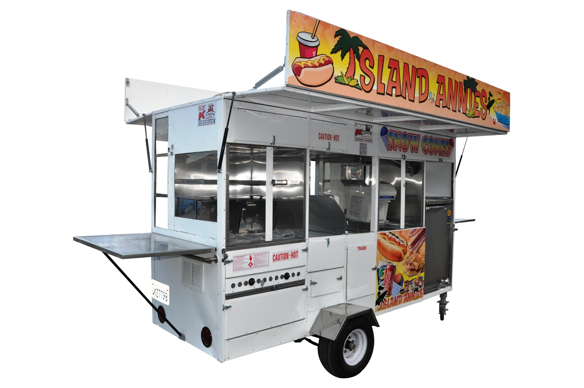 Hot Dog, Snow Cone, Nachos, Churro Trailer Cart