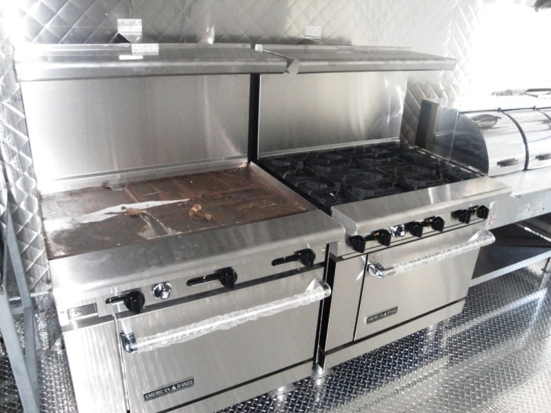 flat griddle with oven and open top burners with oven
