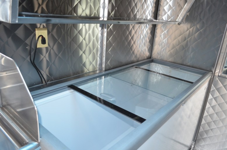 Sliding door freezer
