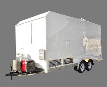 Generator and propane tanks