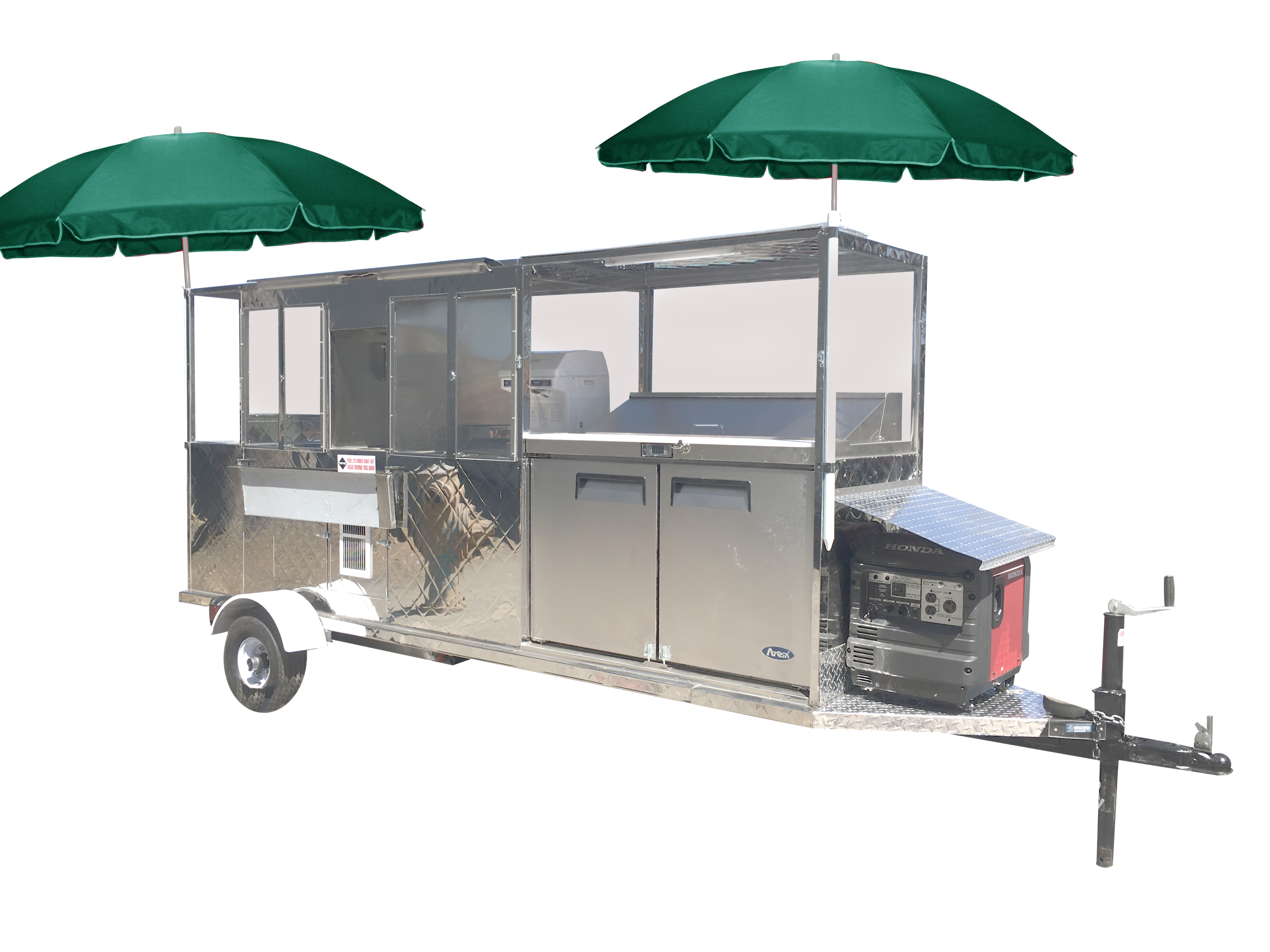 Shaved ice & Fruit Trailer Cart