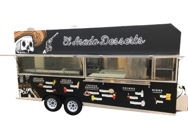 Grilling step-in food trailer