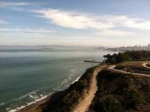 Facing away from the Golden Gate Bridge