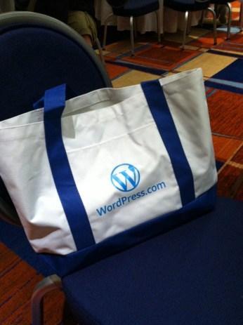 WordPress.com were the bag sponsors