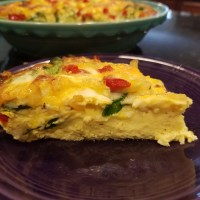 Red Bell Pepper, Onion and Spinach Frittata