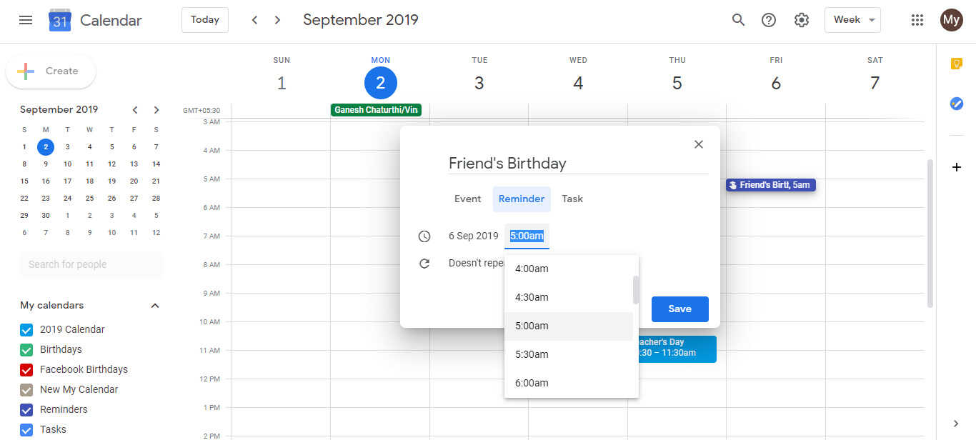How To Make Google Calendar To Remind Me About Birthdays With A Signal Google Calendar Handbook